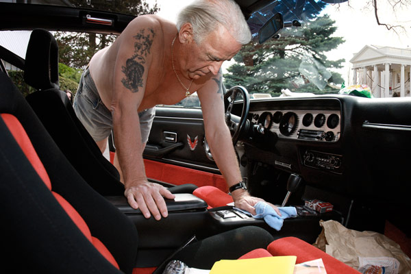 45th president, Joe Biden, seen cleaning his car prepares for next 12 months as president
