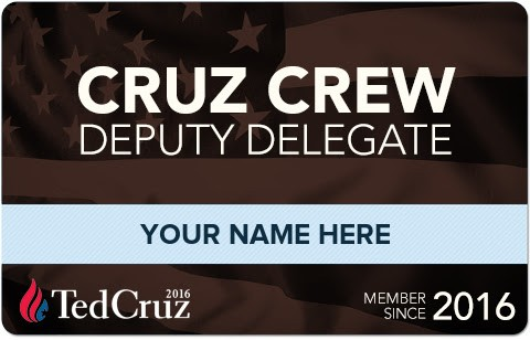 Cruz Crew Deputy Delegates are still available on a first come first serve basis