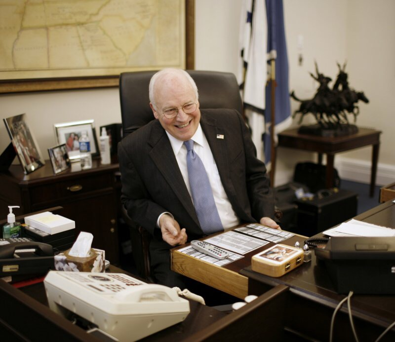 Cheney waiting by phone for VP nod