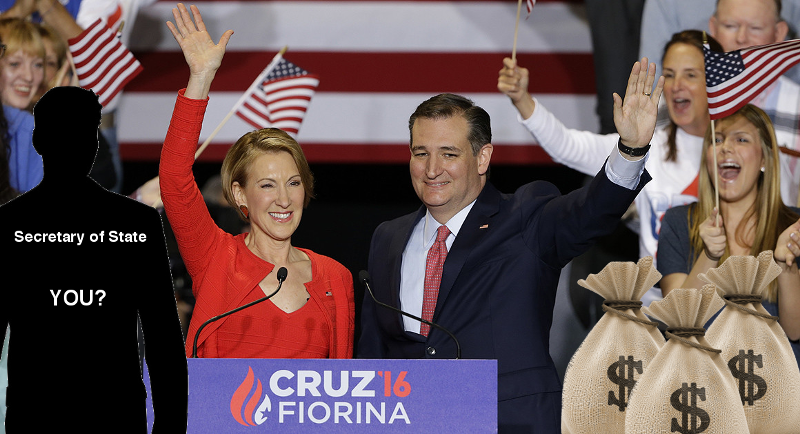 Ted Cruz, Carly Fiorina unveils future cabinet seats available for donations